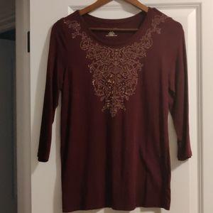 Jessica 3/4 length sleeve shirt